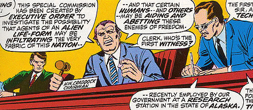 Warren H. Craddock presiding over the Alien Activities Commission