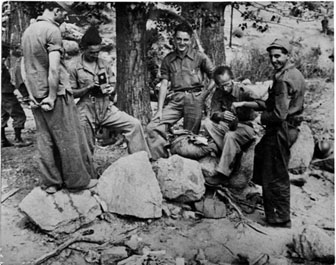 Members of the American Batallion in the Spanish Civil War