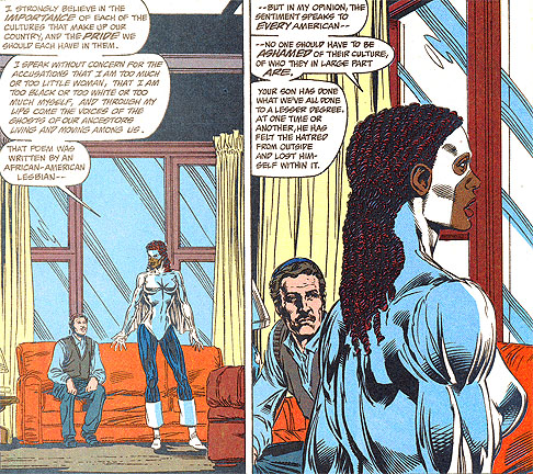 Monica Rambeau speaks for racial and cultural tolerance