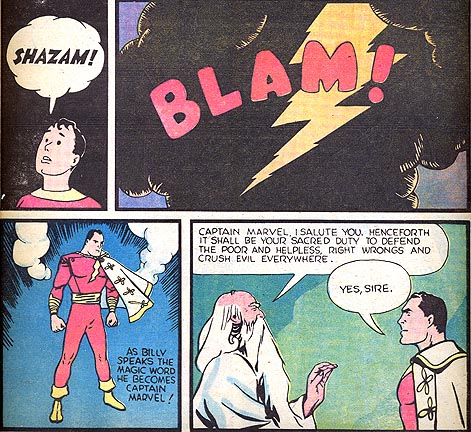 The first appearance of the original Captain Marvel