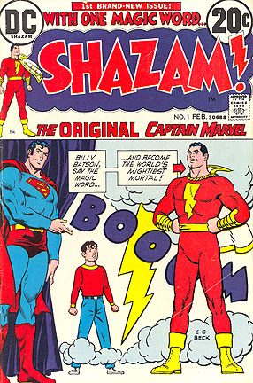 The DC Comics debut of Captain Marvel